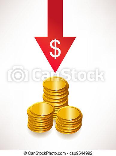 The concept of depreciation of money. Dollar - csp9544992