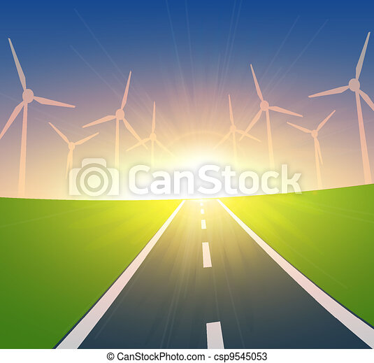 Wind Turbines Landscape  - csp9545053