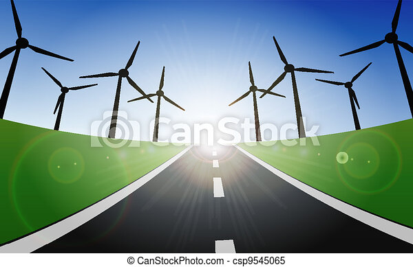 Wind Turbines Landscape  - csp9545065