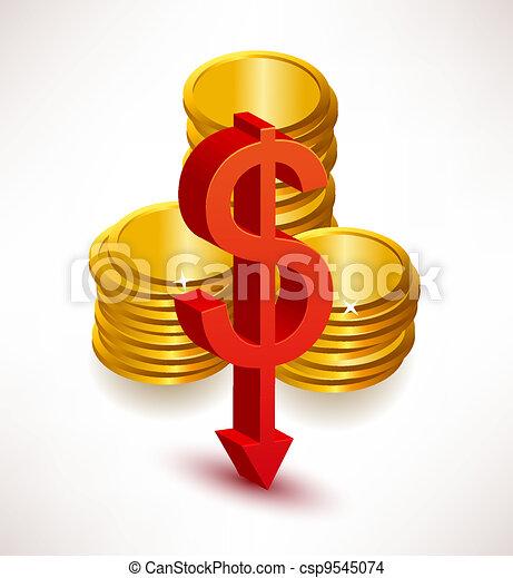 The concept of exchange rates. Dollar - csp9545074