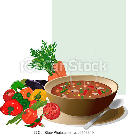 soup with veggies - csp9545549