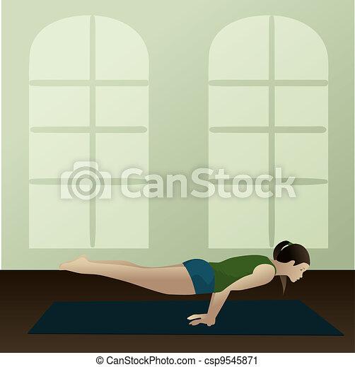 Peacock  Yoga Posture - csp9545871