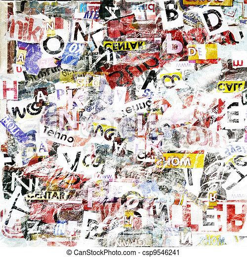 Grunge textured background - csp9546241