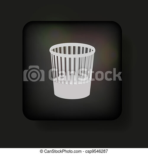 Vector bucket icon on black. Eps10 - csp9546287