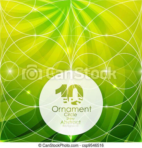 Vector green geometric shiny background - csp9546516