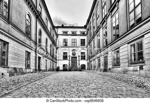 Stock foto weinlese architektur schwarz weiß stock bilder