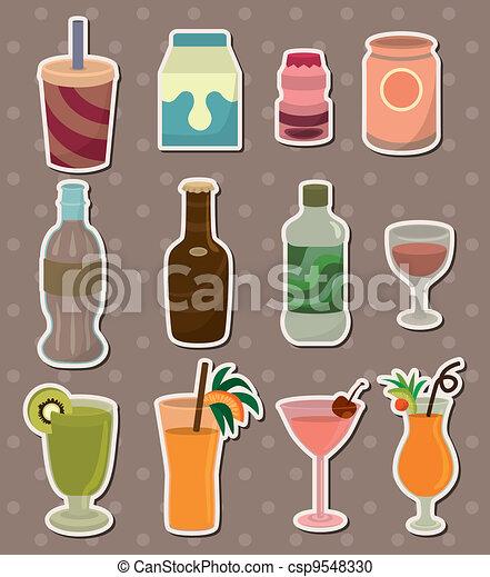 drink stickers - csp9548330