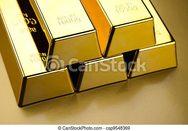 Stack of gold bar - csp9548369