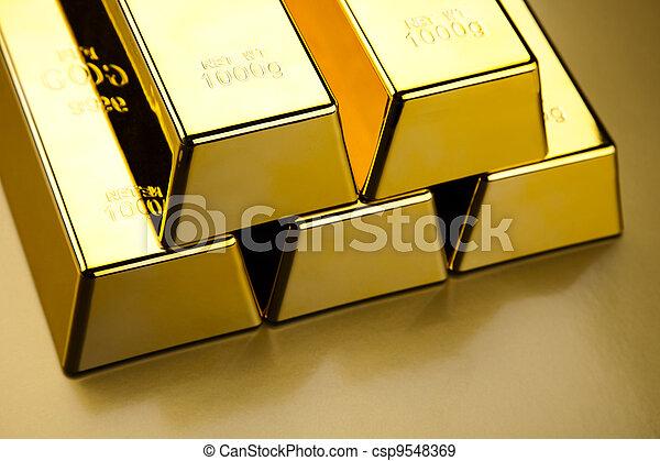 Stack of gold bar - csp9548369