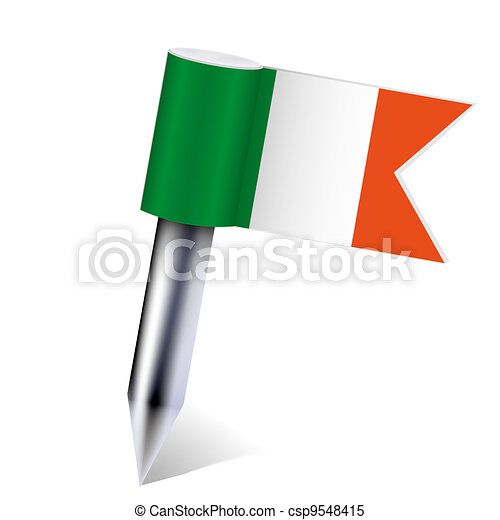 Vector Ireland flag isolated on white. Eps10 - csp9548415