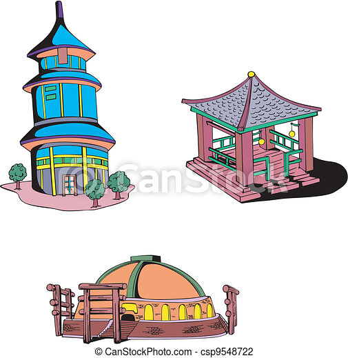 Asian oriental temples - csp9548722
