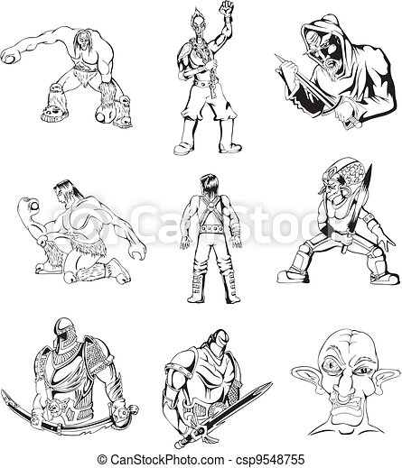 Fantasy men and warriors - csp9548755