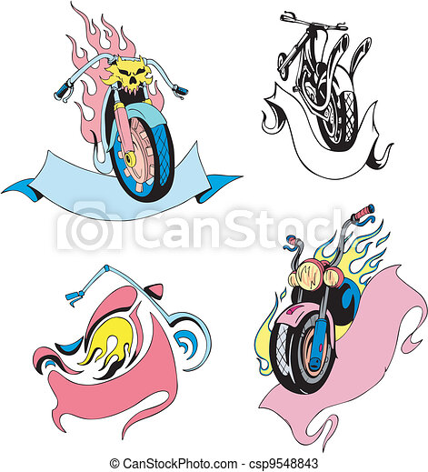 Motorcycles with ribbons - csp9548843