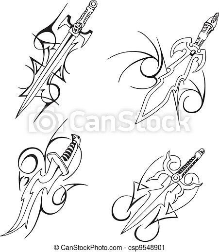 Tribal blade designs - csp9548901