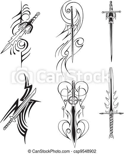 Эскизы узоров для клинка