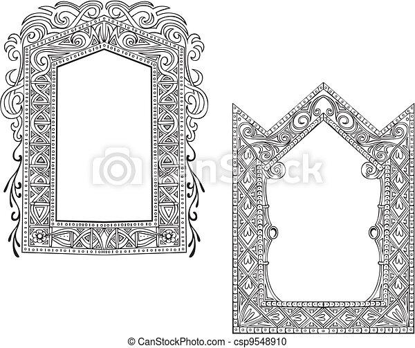 Two Art Nouveau Frames - csp9548910