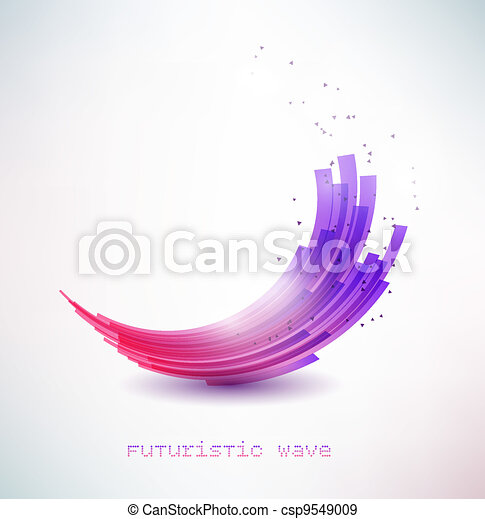 futuristic wave sign - csp9549009