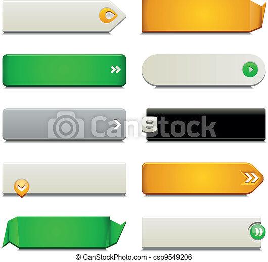 Flat Web Button Elements - csp9549206