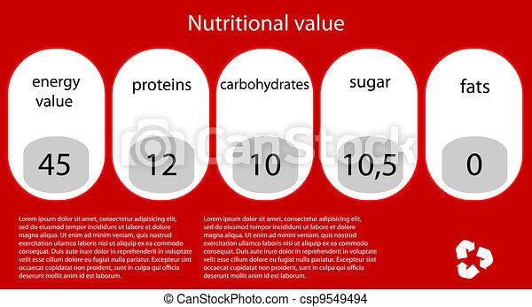 Vector nutritional value. Eps10 illustration - csp9549494
