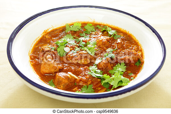 Chicken and tomato tagine stew - csp9549636