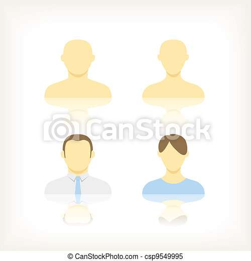 Collection of an account icons of men and women - csp9549995