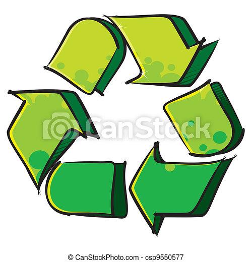 Recycling symbol - csp9550577
