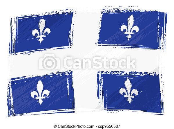 Grunge Quebec flag - csp9550587