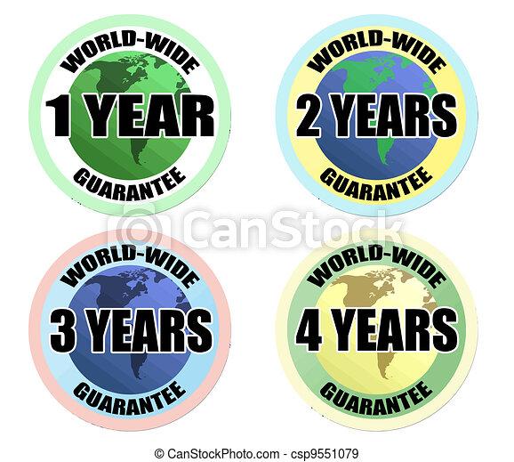 world-wide guarantee labels - csp9551079