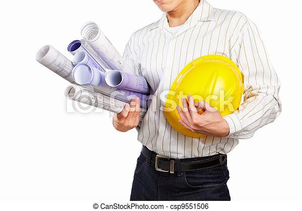 Civil engineer body part - csp9551506