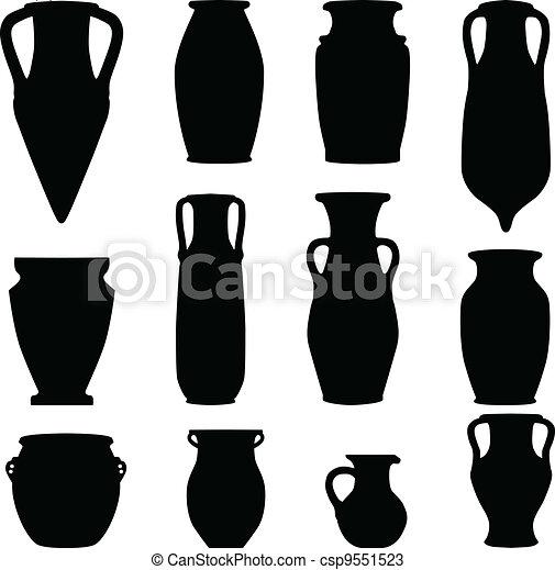 antiquity ceramics terracotta - csp9551523