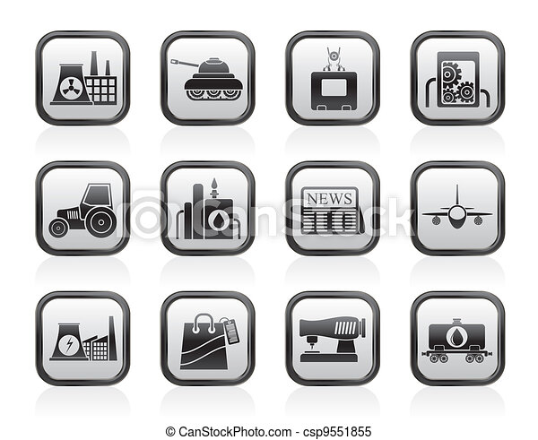 Business and industry icons - csp9551855