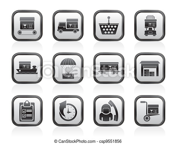 Logistic, cargo and shipping icons  - csp9551856