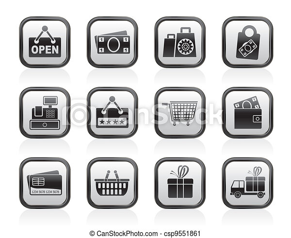 shopping and retail icons - csp9551861