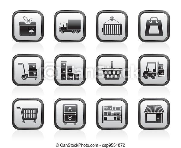 Storage icons transportation icons - csp9551872