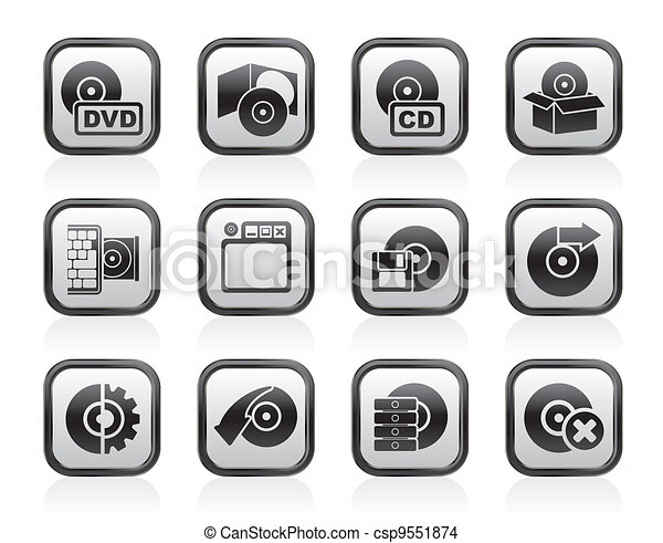 Computer Media and disk Icons - csp9551874