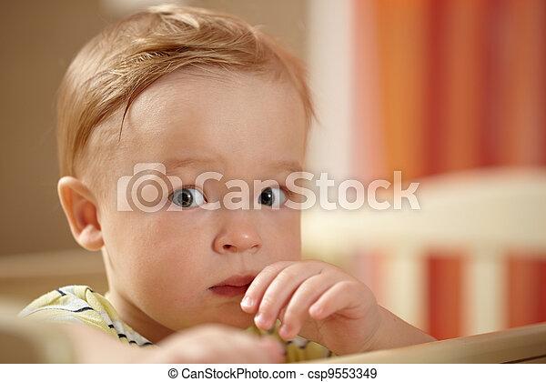Little boy, fear look - csp9553349