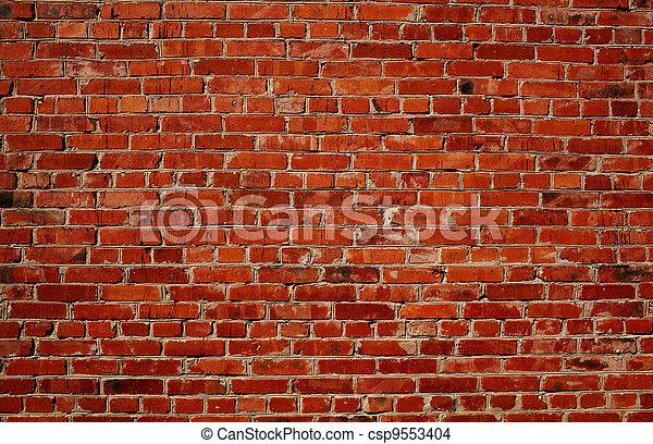 mur, brique, rouges - csp9553404