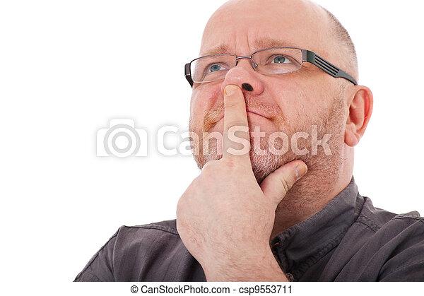 Elderly man pondering a decision - csp9553711