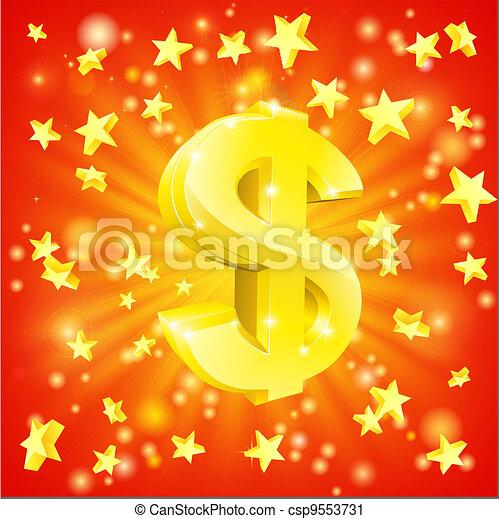 Dollar money star concept - csp9553731
