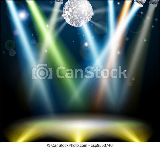 Disco ball dance floor - csp9553746