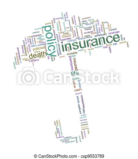 Insurance word tags - csp9553789