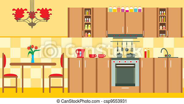 Kitchen furniture. Interior - csp9553931