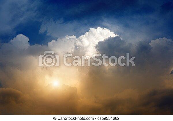 Dramatic sky - csp9554662
