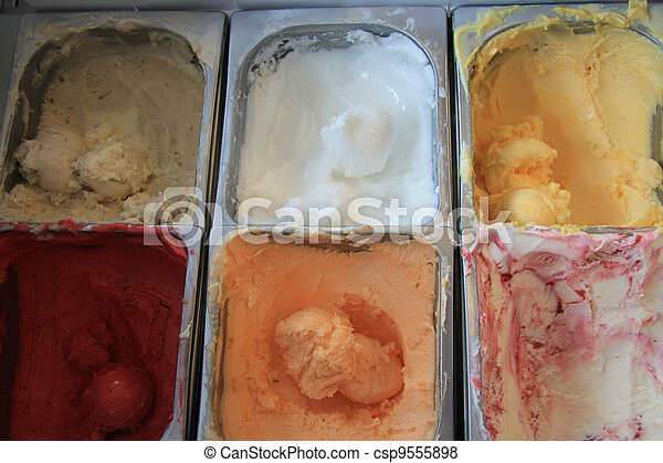 Flavors of ice cream - csp9555898