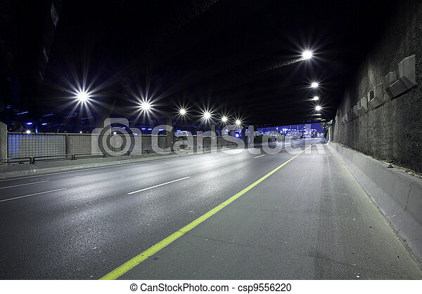Highway at Night - csp9556220