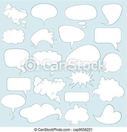 Speech Balloons - csp9556221