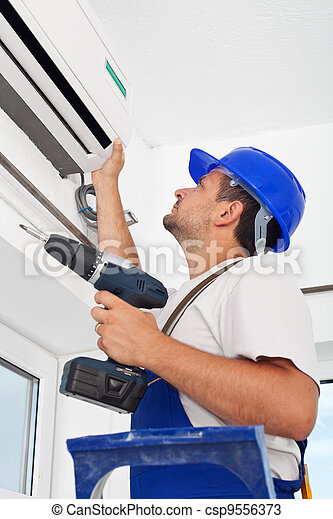 Installing air conditioning unit - csp9556373