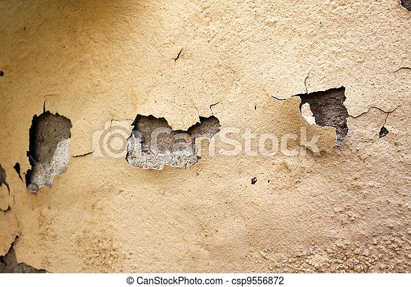 Home Repair Maintenance Water Damaged Peeling External Paint  - csp9556872