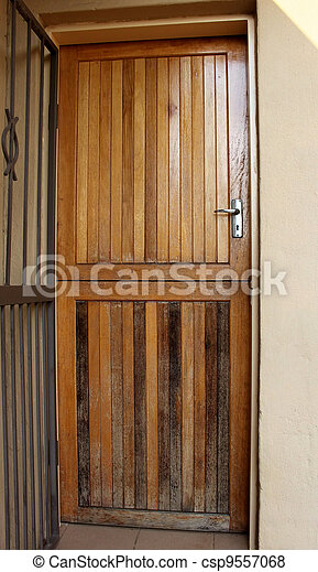 Home Repair Maintenance Wood Door - csp9557068