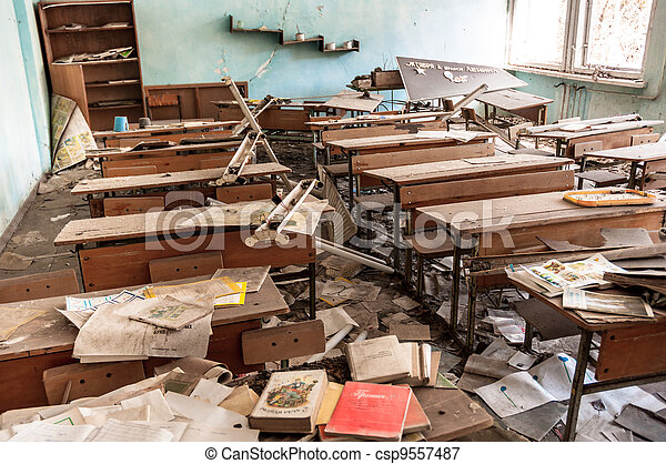 Dirty Classroom Clipart Picture of abandoned school in chernobyl 2012 ...